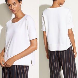 nwt // vince short sleeve crop sweatshirt
